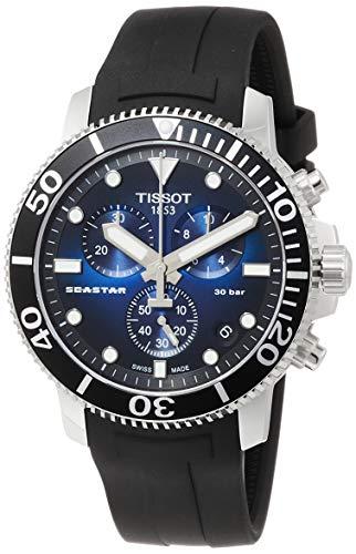 TISSOT Mens Chronograph Quartz Watch with Rubber Strap T1204171704100